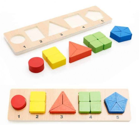 ... educationale Partile Intregului – Puzzle Montessori 5 reprezentari