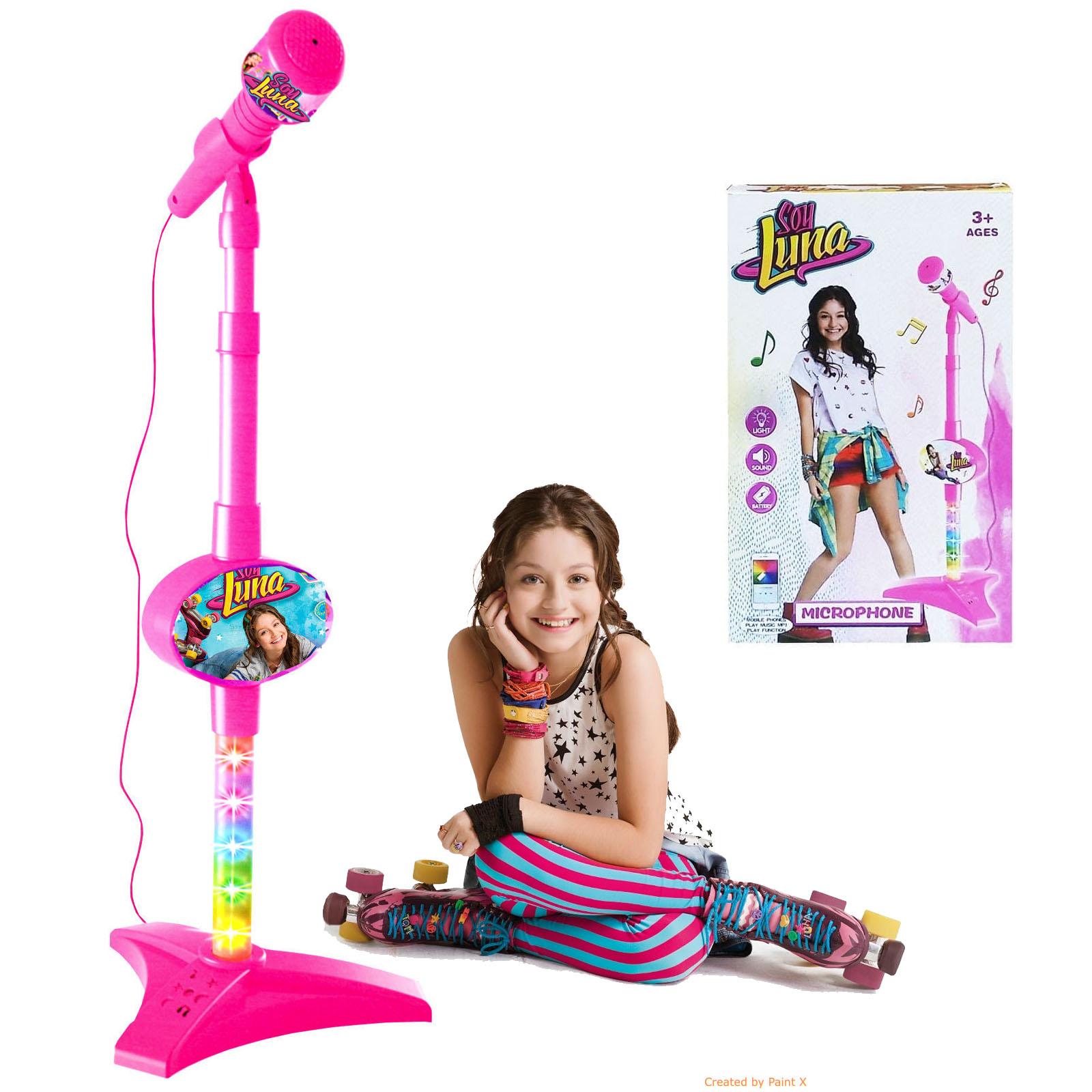 Microfon De Jucarie SOY LUNA Cu Lumini Si Suport Mp3 • HAM