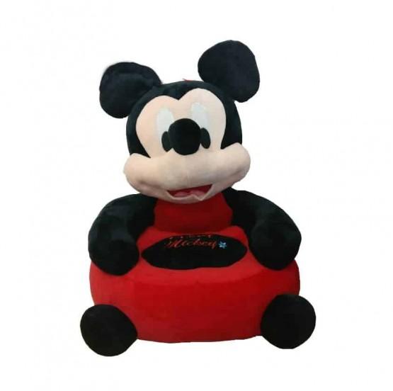 Fotoliu din plus bebe Mickey Mouse Red