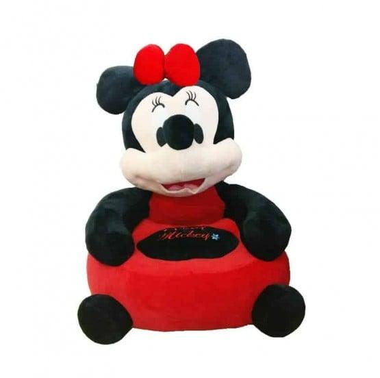 Fotoliu din plus bebe Minnie Mouse Red