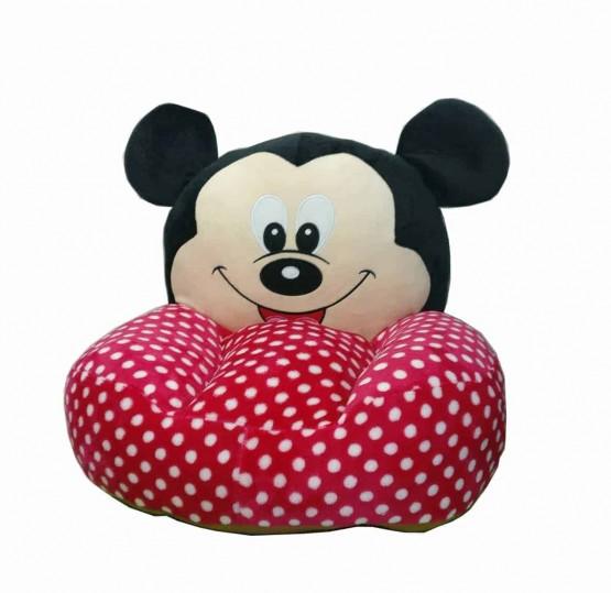 Fotoliu din plus bebe Mickey Mouse buline