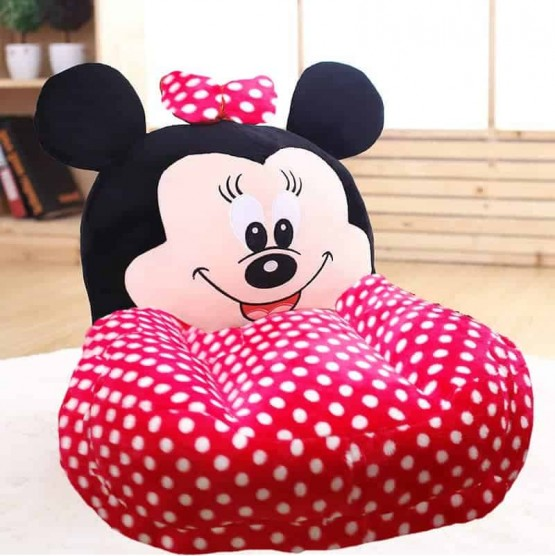 Fotoliu din plus bebe Minnie Mouse Buline