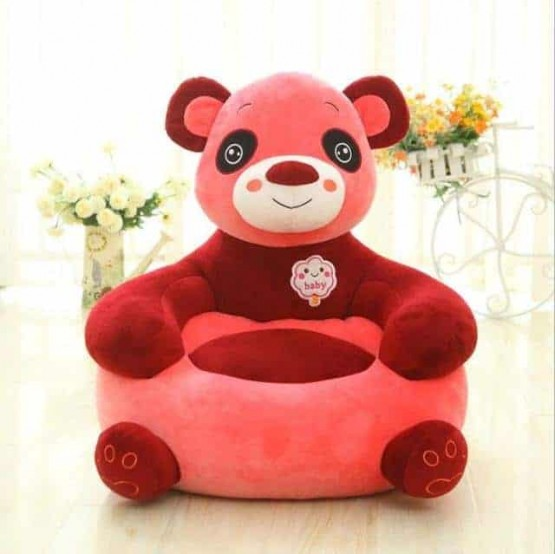 Fotoliu din plus bebe Panda Roz