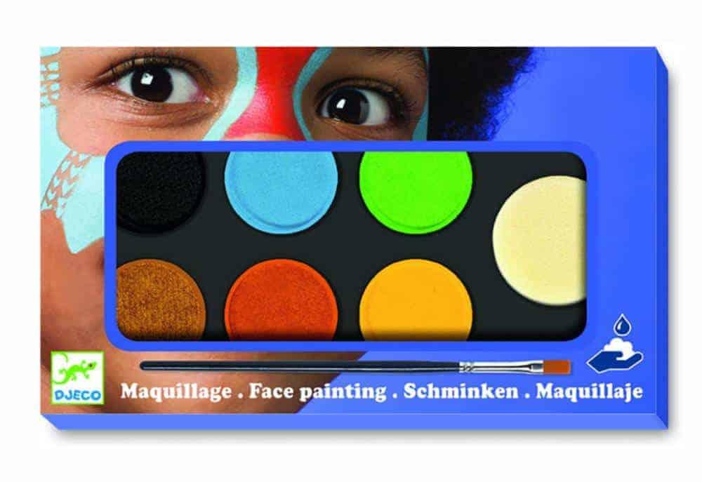 Set Pictura Pe Fata Machiaj Copii 6 Culori Non Alergice Djeco