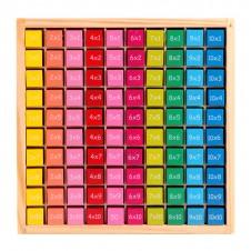 Joc Tabla Inmultirii din lemn Color 100 piese