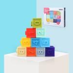 Cuburi moi bebelusi - cuburi din cauciuc cu texturi kaichi