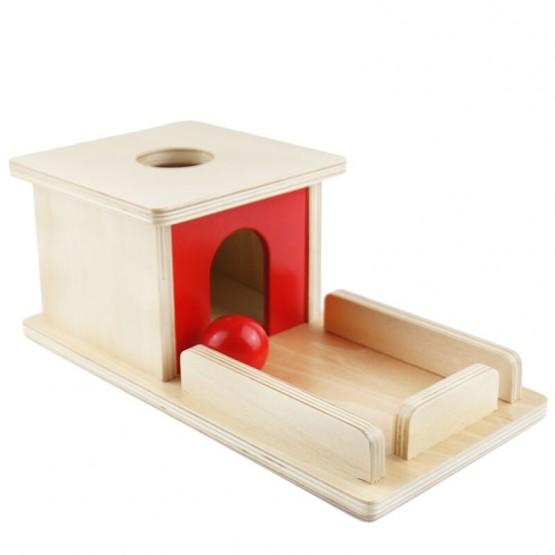 Cutia permanentei Montessori lemn natur
