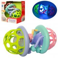 Minge moale bebe Meibeile Musical Rubber Crawling Ball