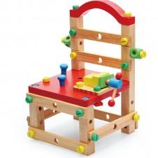 Banc de lucru copii Scaunelul Rosu Asamblare Work Chair