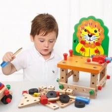 Banc de lucru copii Scaunelul cu set constructii creative Leul Moondog