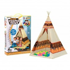 Cort indian copii Cort Teepee cu 60 bile colorate