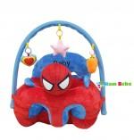 Fotoliu Spiderman pentru bebelusi cu arcada cu jucarii