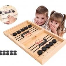 joc hochei aerian fotbal de masa copii Fast slingpuck board game Super Winner