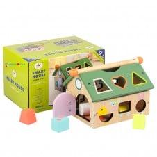 Casuta de jucarie din lemn cu activitati Smart House MSN