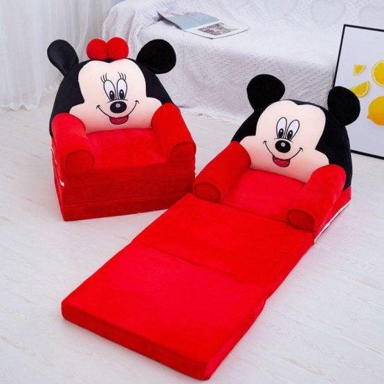 Fotolii extensibile Mickey - Minnie Mouse Triple 115 cm