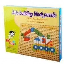 Joc mozaic creativ Pixel din lemn Arts Building Puzzle