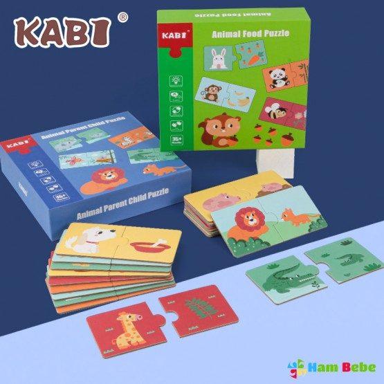 Set puzzle duo Asocieri animale Kabi Puzzle piese mari