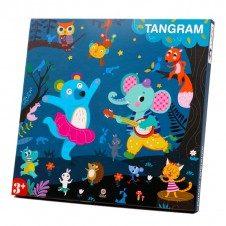 Carticica magnetica Tangram cu modele Wisdom Cool