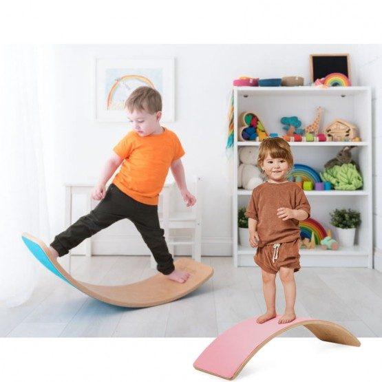 Placa de echilibru din lemn Balance Board colorata