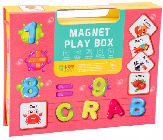 Carte magnetica Alfabet si cifre Magentic Play Box