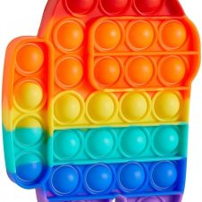 jucarie pop it among us impostor rainbow curcubeu
