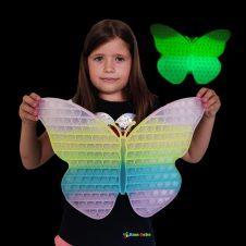 Jucarie Pop it Fluturas mare fluorescent Straluceste in intuneric