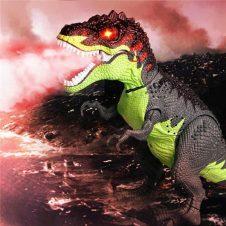 dinozaur jucarie interactiva merge scoate flacari