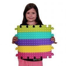 POP IT mare Patrat Puzzle curcubeu 30 cm