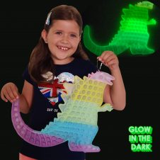 Pop It Godzilla mare jucarie pop push gigant fluorescent Glow in the Dark