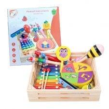 Set instrumente muzicale de jucarie in cutie de lemn Smart Squirrel