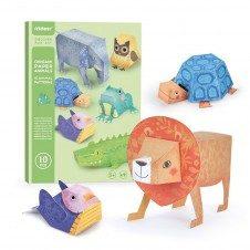 Joc Origami copii Animale Mideer Paper Animals Kit creativ